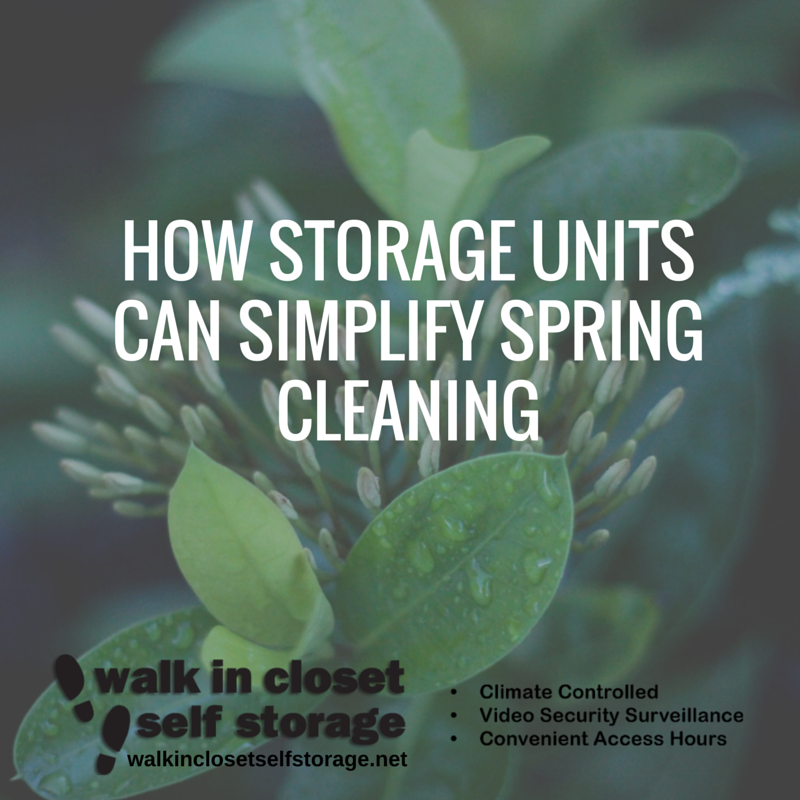 Storage Units Can Simplify Spring